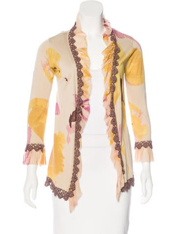 Christian Lacroix Silk Embellished Cardigan None
