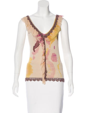 Christian Lacroix Silk Embellished Top None