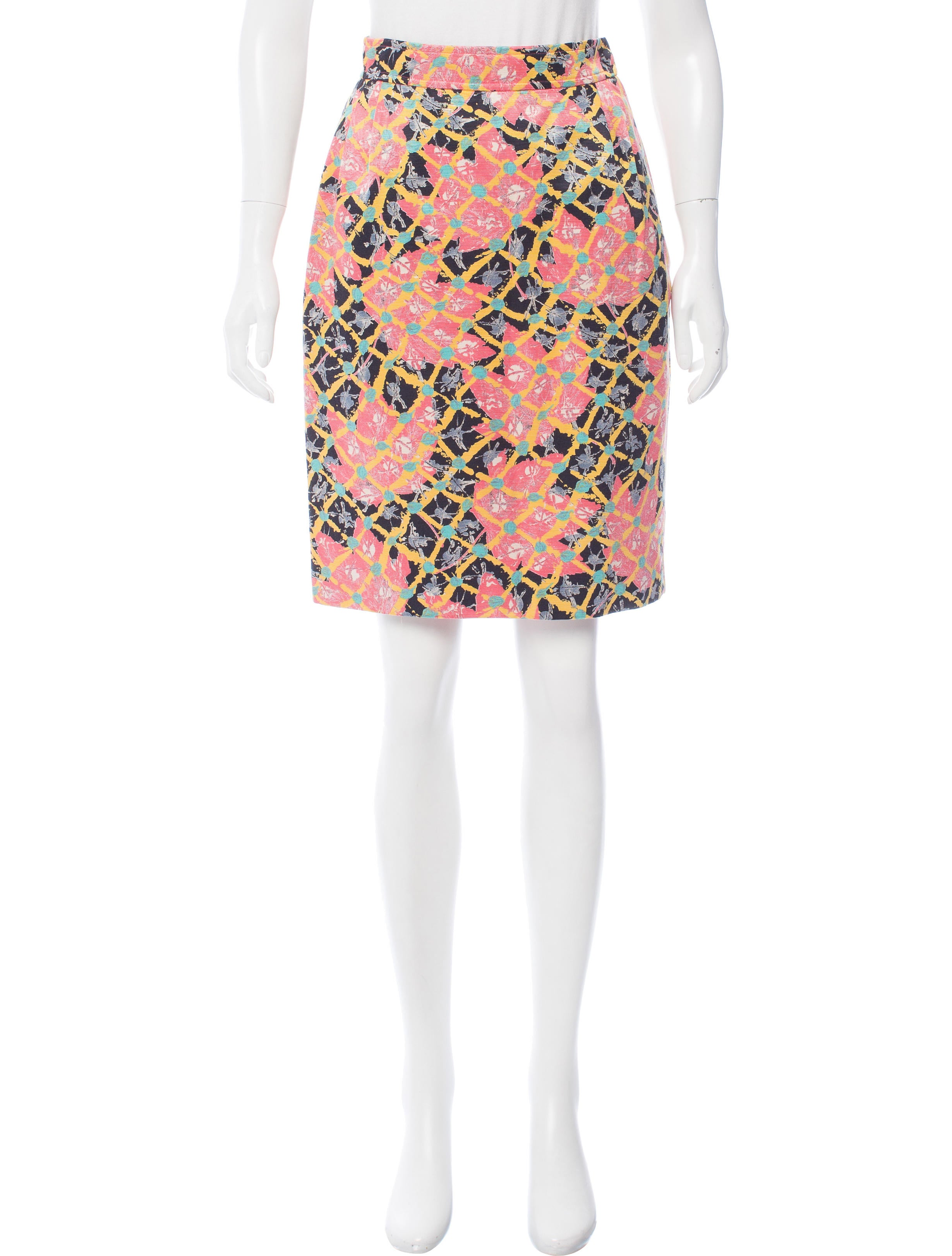 christian lacroix patterned pencil skirt clothing