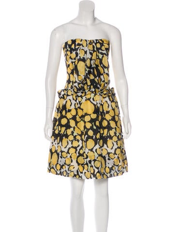 Christian Lacroix Silk Abstract Print Dress None