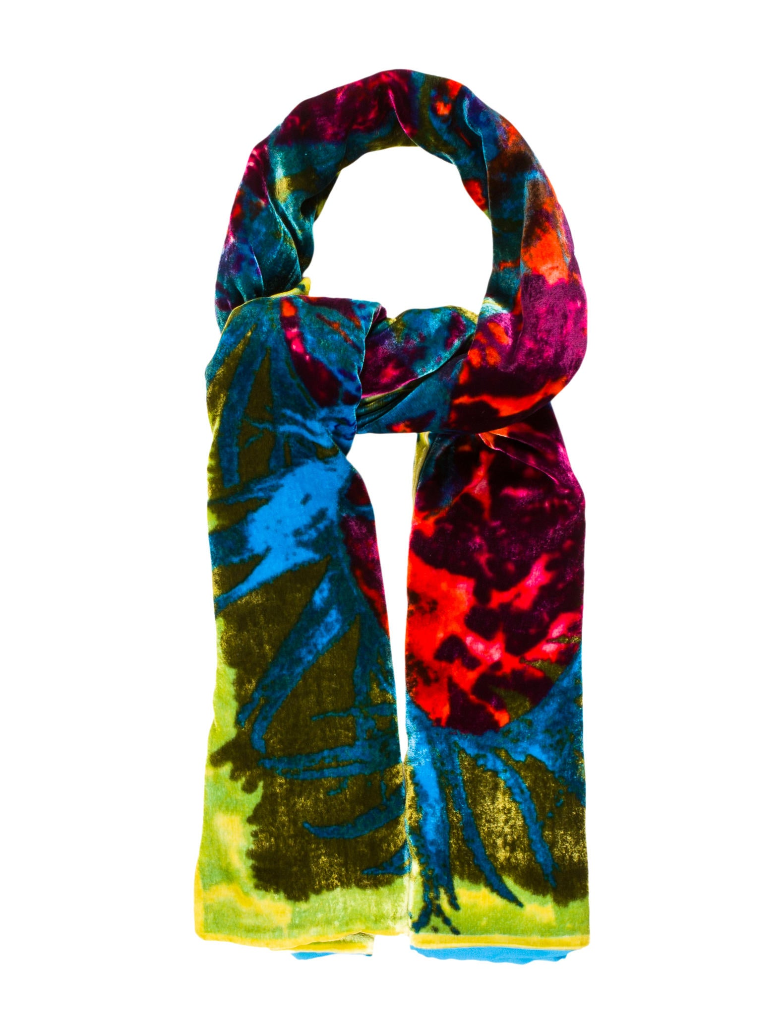 christian lacroix silk velvet scarf accessories