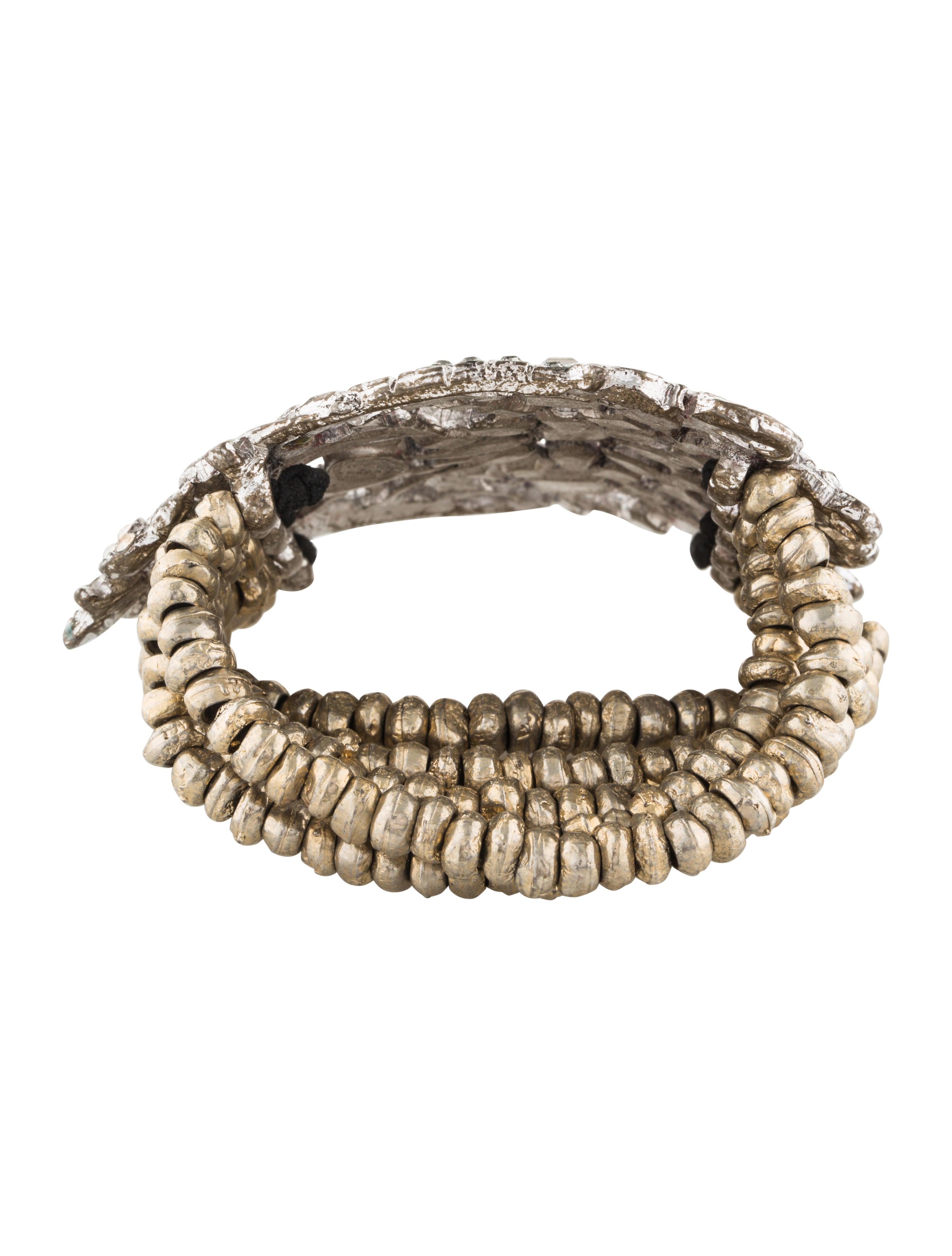 christian lacroix crystal cluster stretch bead bracelet bracelets chs22338 the realreal. Black Bedroom Furniture Sets. Home Design Ideas