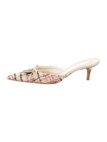 Christian Lacroix Embellished Tweed Mules store for sale cheap sale enjoy 1YFA7