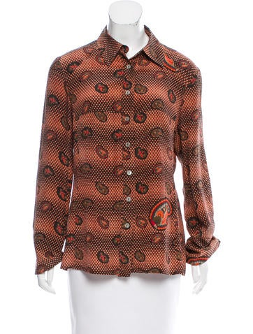 Christian Lacroix Button-Up Silk Top None