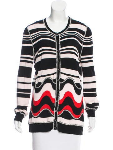 Christian Lacroix Striped Rib Knit Cardigan None