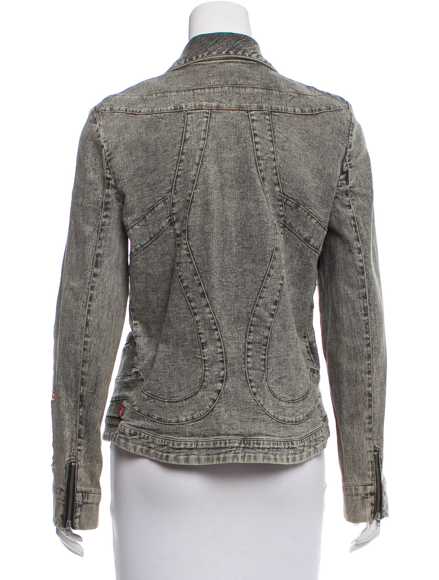 Christian Lacroix Denim Patch-Accented Jacket - Clothing - CHS22563 | The RealReal