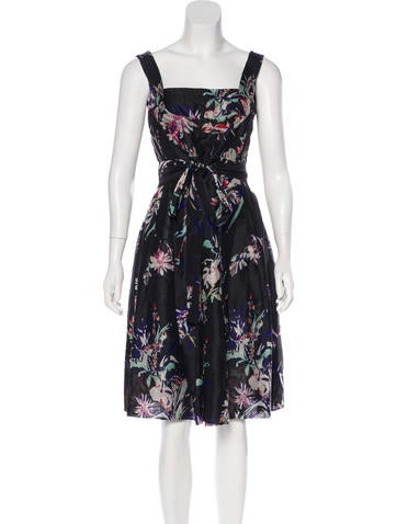 Christian Lacroix Silk Midi Dress None