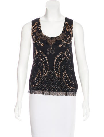 Christian Lacroix Sleeveless Wool Top None