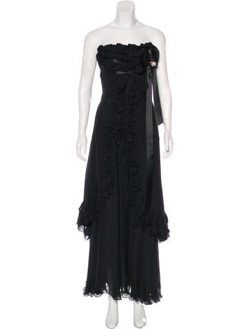 Christian Lacroix Silk Evening Gown None