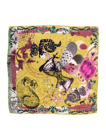 Christian Lacroix Silk Printed Scarf None