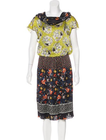 Christian Lacroix Printed Silk Dress None