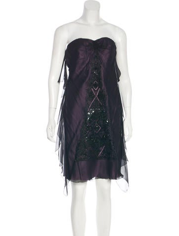 Christian Lacroix Silk Embellished Dress None