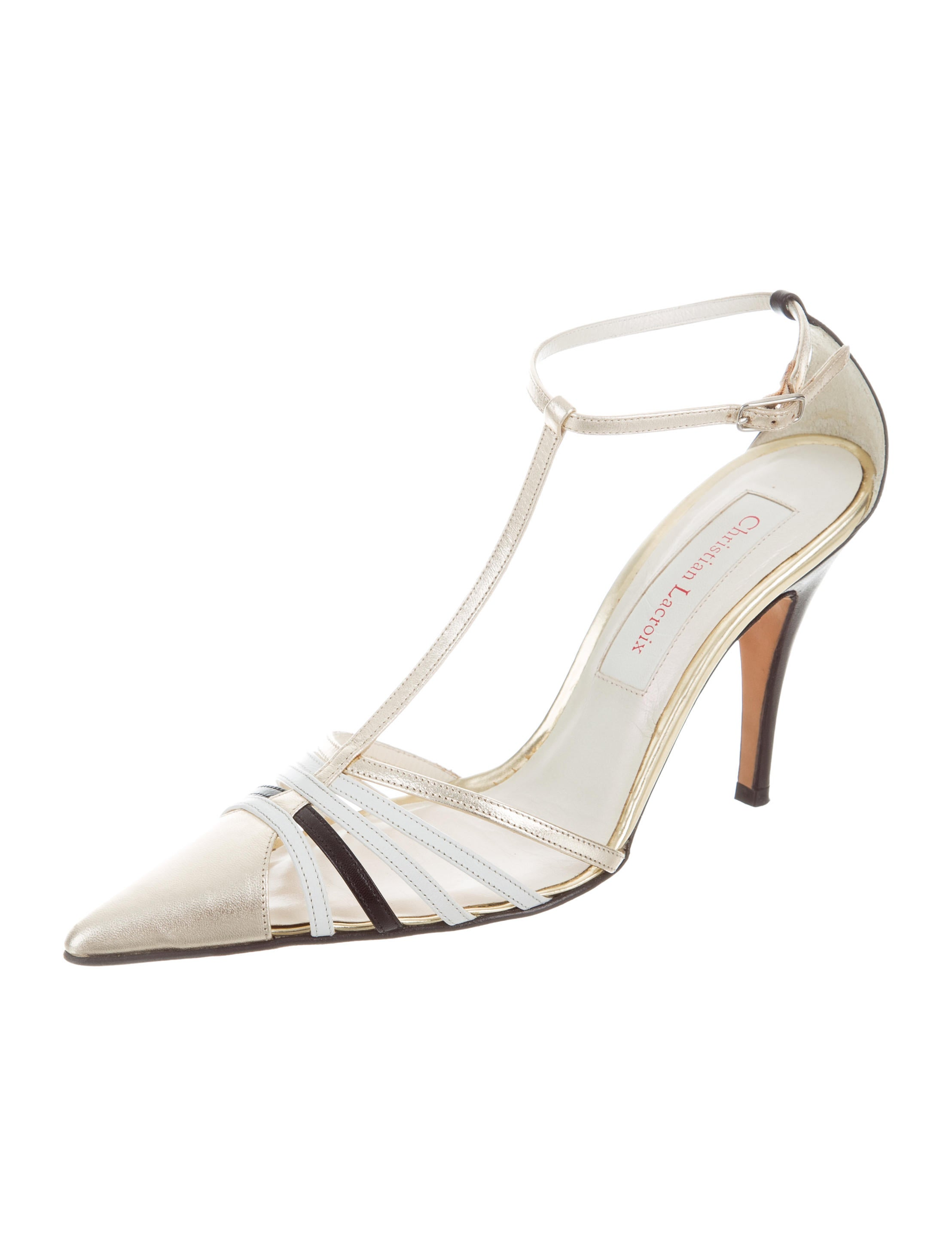 Christian Lacroix Leather Ankle Strap Pumps online cheap quality sale fashionable extremely for sale clearance low shipping fee professional for sale iiZdKk93