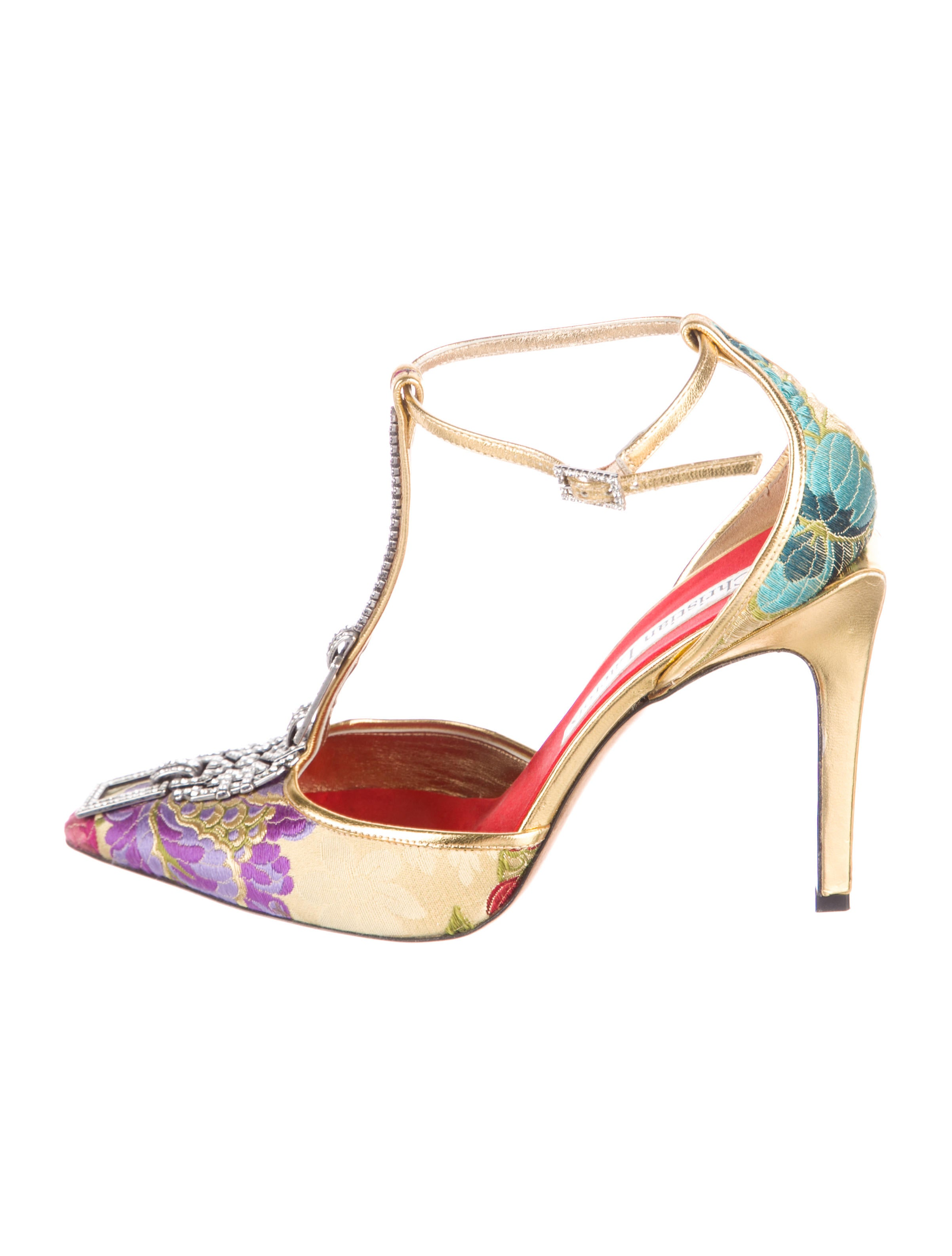 cheap sale wholesale price cheap pictures Christian Lacroix Embellished Jacquard Pumps discount for nice SNsRc2OHR