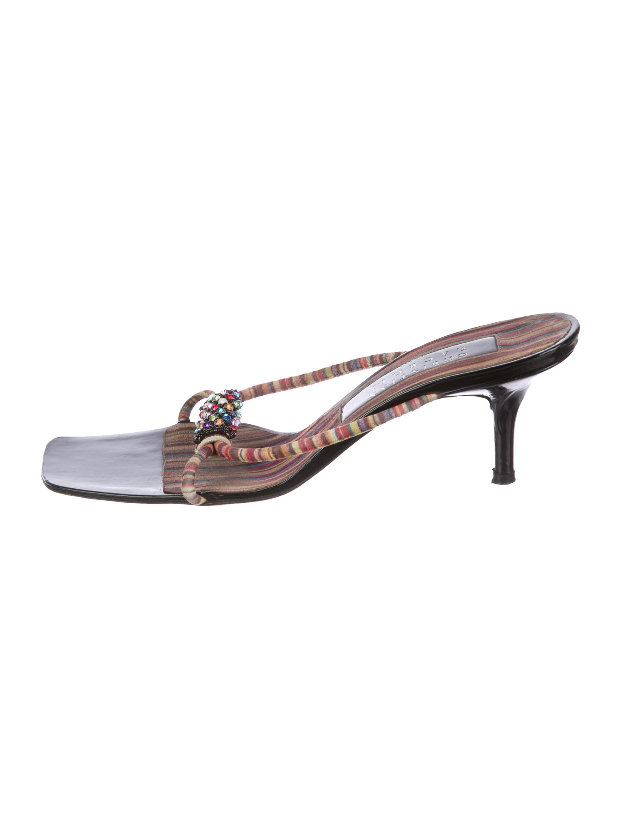 Christian Lacroix Suede Embellished Sandals sale low price buy cheap amazon buy cheap 2014 newest buy cheap visit new eaqFyhUTE
