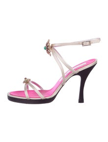 bebb078fe54a Christian Lacroix. Satin Embellished Sandals
