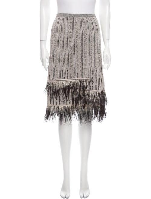 Christian Lacroix Feather Trim Knee-Length Skirt G