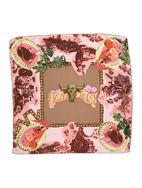 Christian Lacroix Printed Scarf Brown
