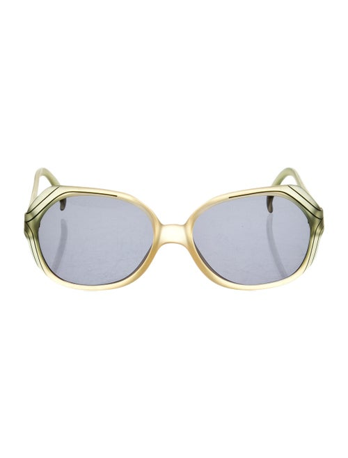 Christia Oversize Tinted Sunglasses Green