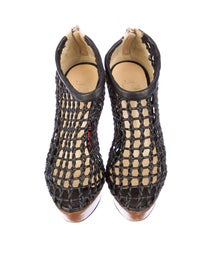 new concept e1da9 015eb Christian Louboutin Coussin Caged Ankle Boots - Shoes ...