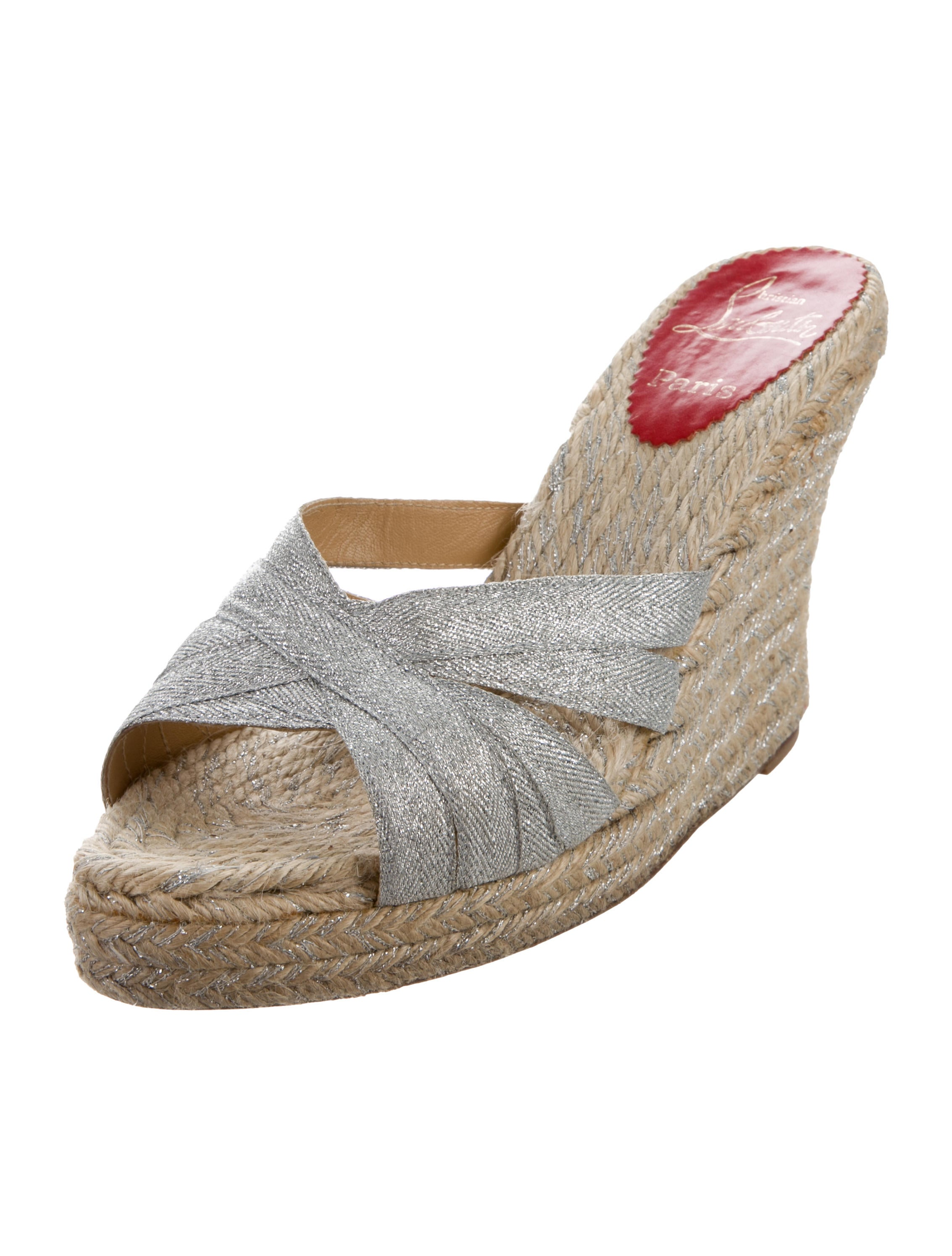 7e4665c0b4de Christian Louboutin Cataribbon Espadrille Wedges - Shoes - CHT100455 ...