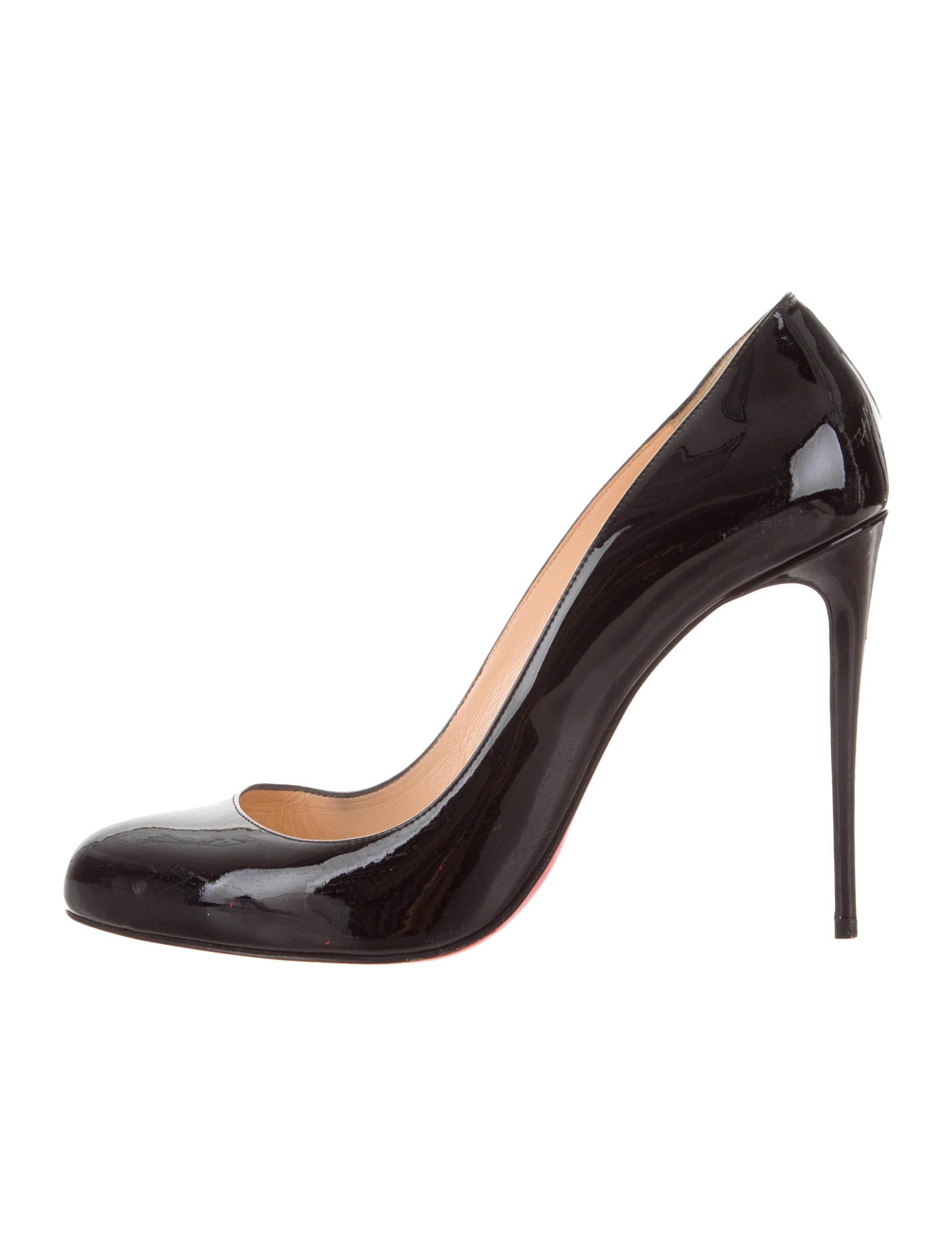 check out 0245b 3af49 Christian Louboutin Patent Leather Round-Toe Pumps