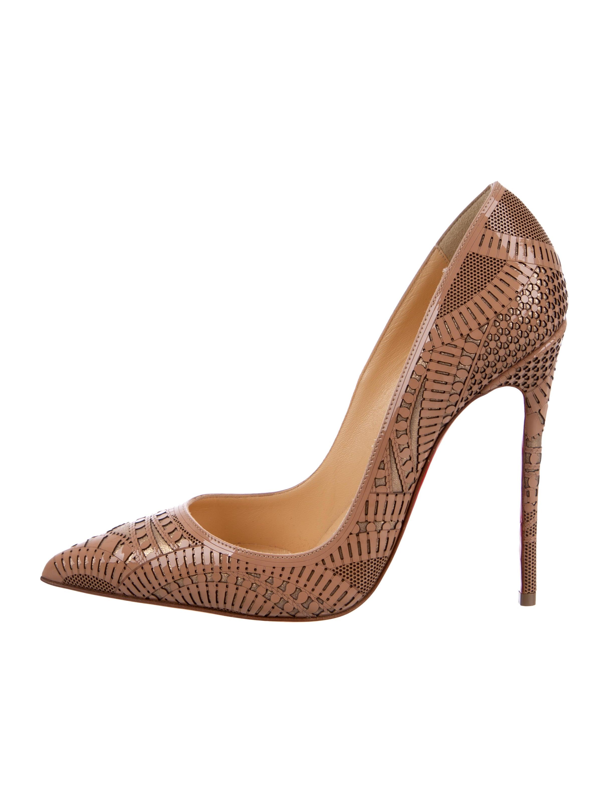 f4ab8a42e20b Christian Louboutin Kristali 120 Patent Leather Pumps - Shoes ...