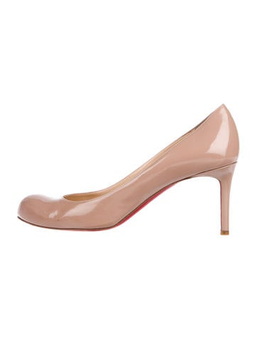 buy popular 17aae 8d3ab Christian Louboutin Patent Leather Simple Pump 70 MM - Shoes ...