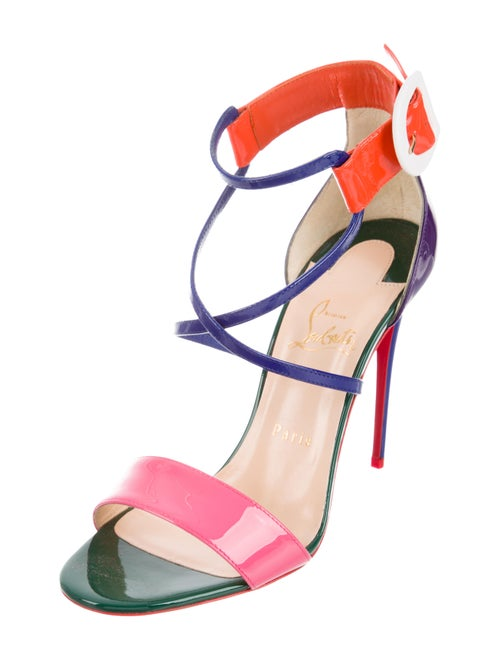 online retailer 2b507 6416f Christian Louboutin Choca 100 Patent Leather Sandals - Shoes ...