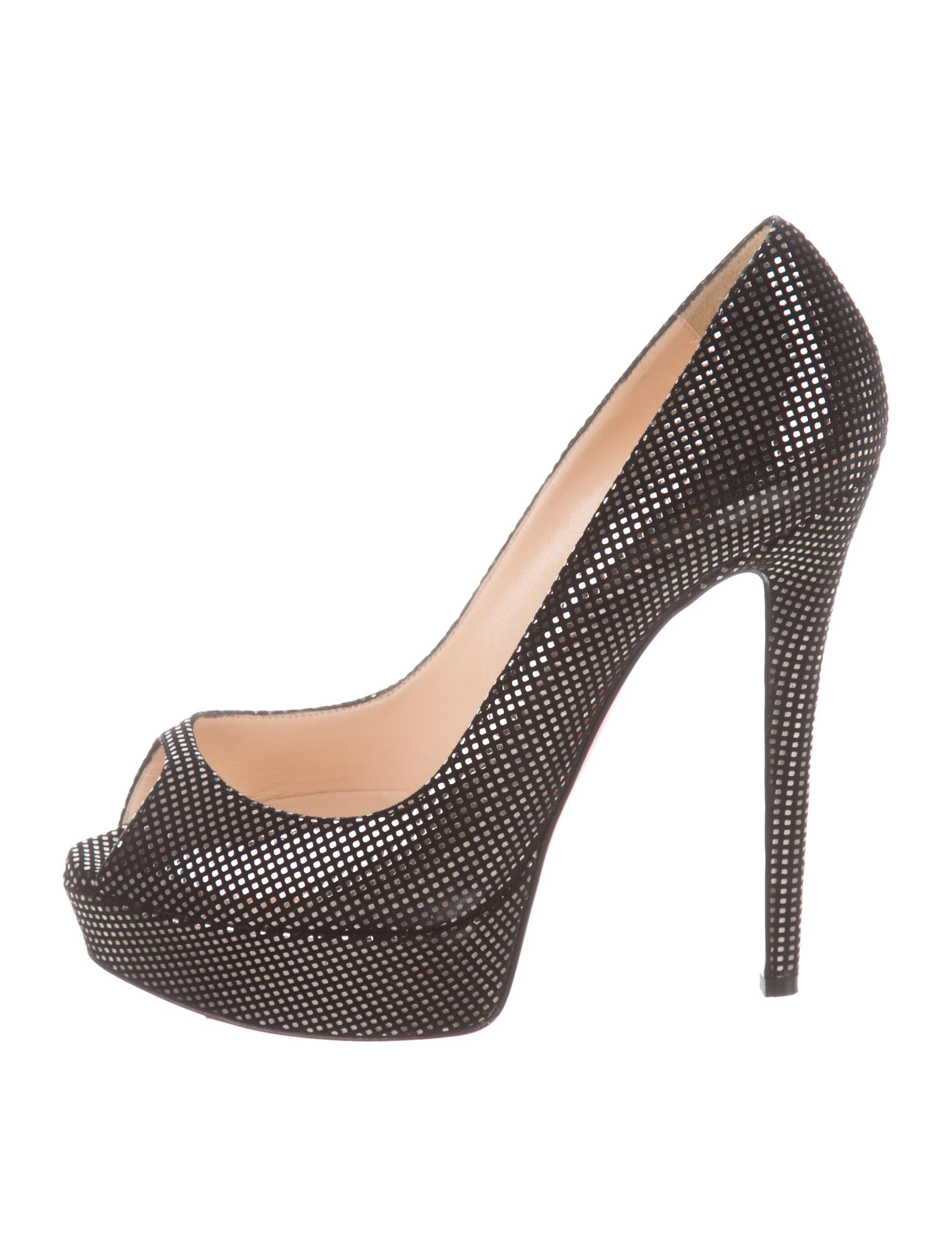 best sneakers b4828 5056b Christian Louboutin Lady Peep Platform Pumps - Shoes ...