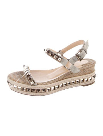 san francisco c561a 06598 low price christian louboutin cataclou 60 studded espadrille ...