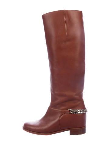 6e5d36b01e4 Christian Louboutin. Leather Chain-Link Boots