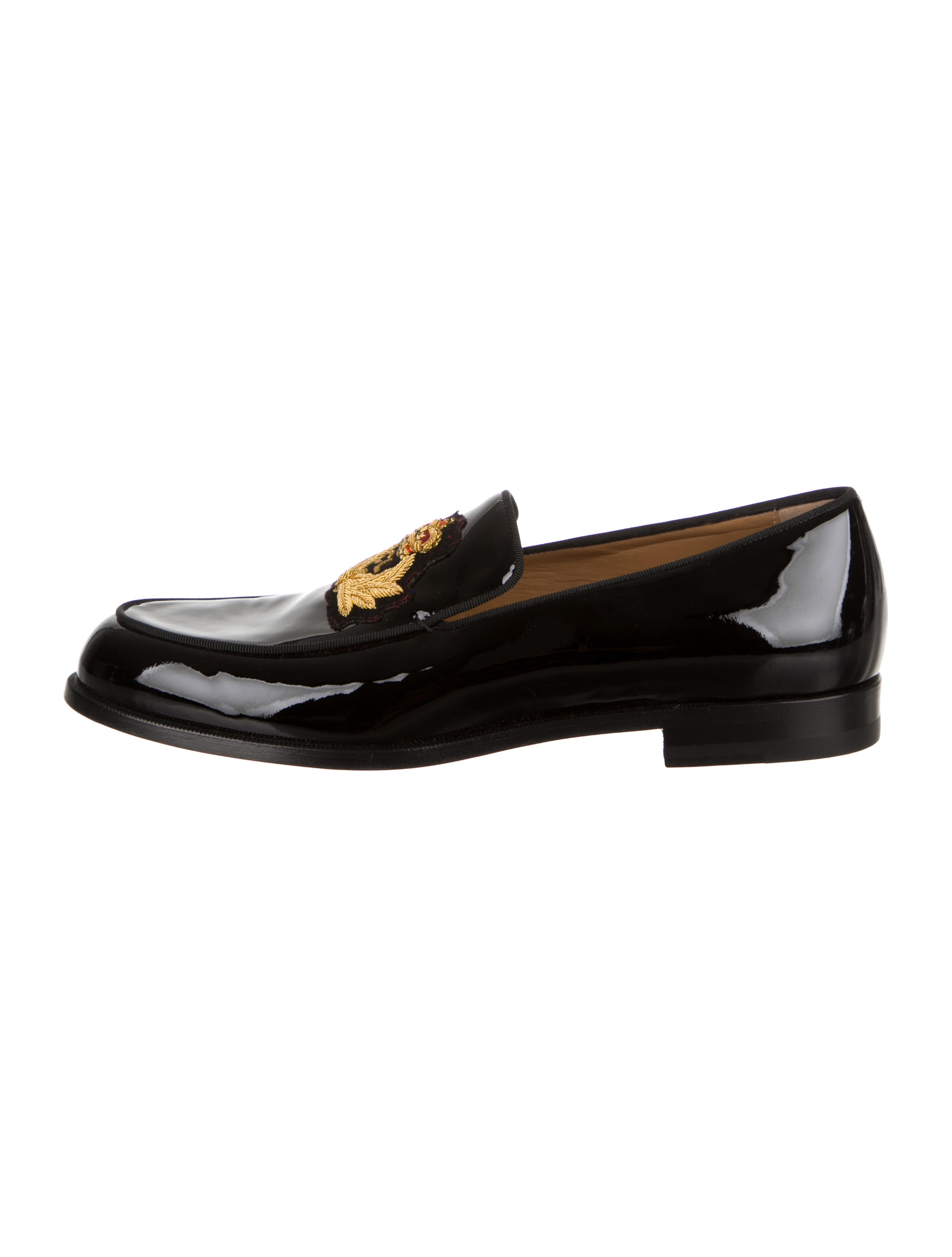 c5fc29aa867d Christian Louboutin Laperouza Patent Leather Loafers - Shoes ...