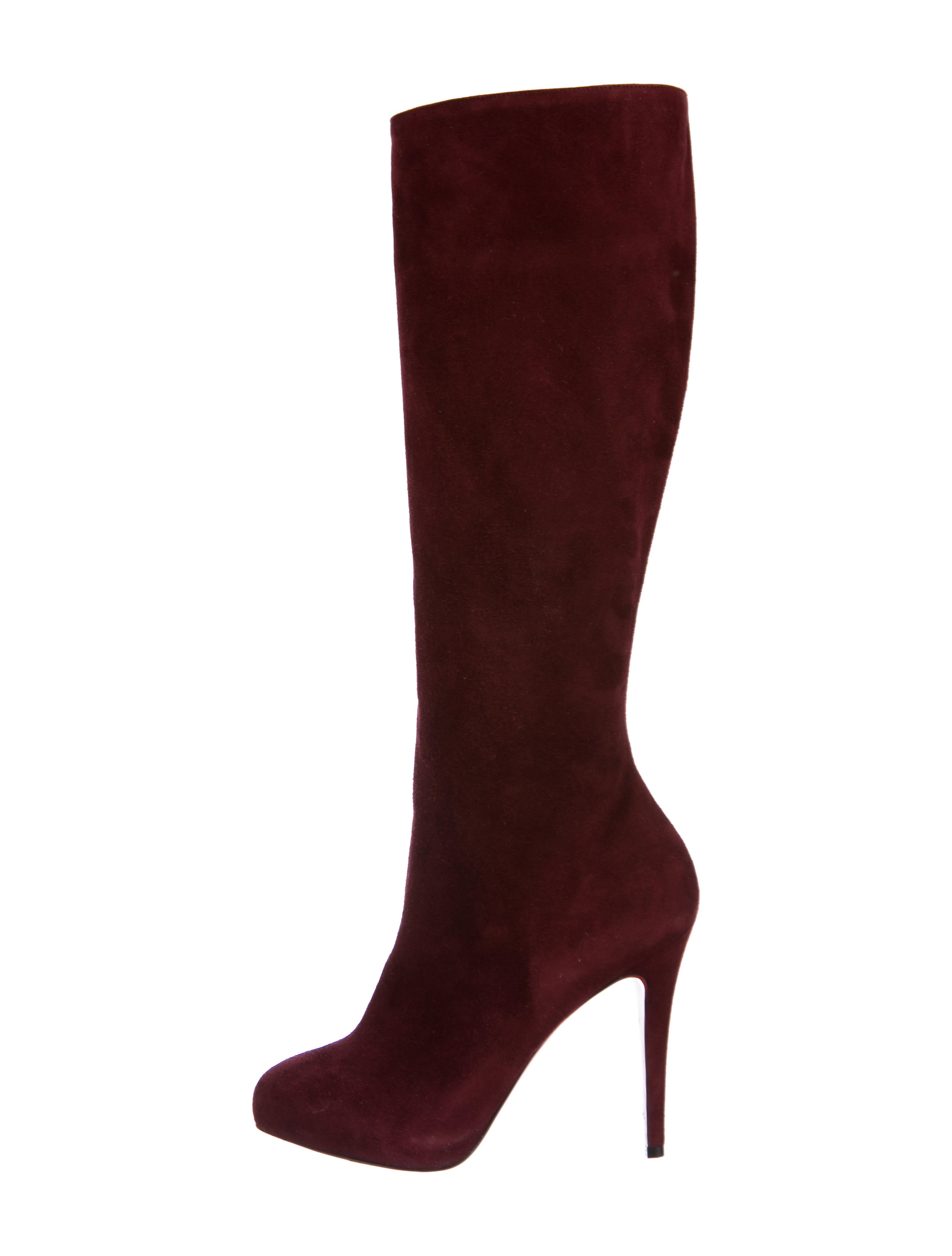 save off 4156b 0b77c Christian Louboutin Botalili 120 Suede Boots