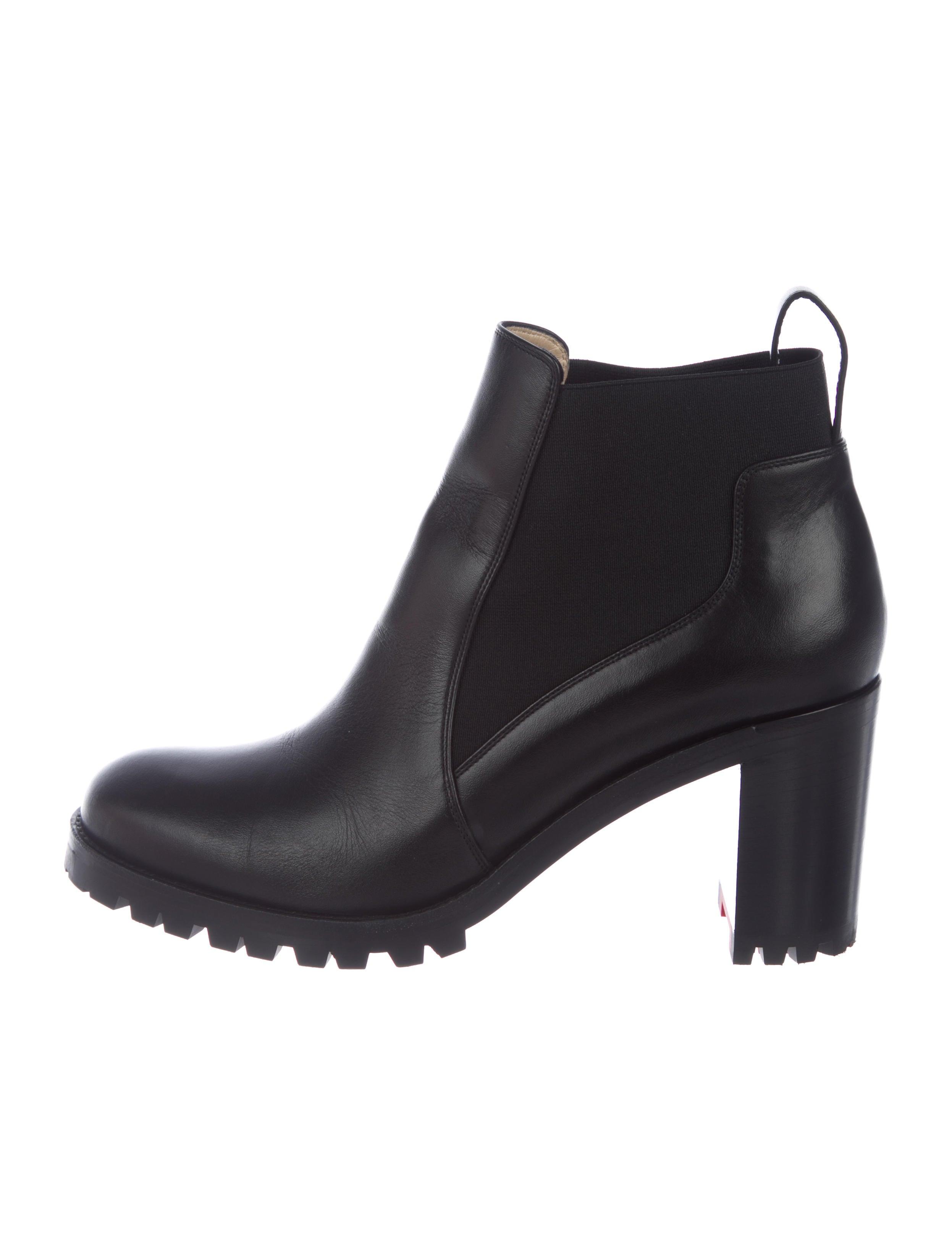 4ec29d185c73 Christian Louboutin Marchacroche 70 Leather Boots - Shoes ...