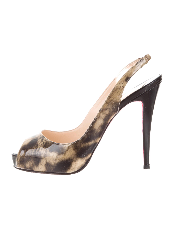 40fc2163a153 Christian Louboutin N°Prive Slingback Pumps - Shoes - CHT108064 ...