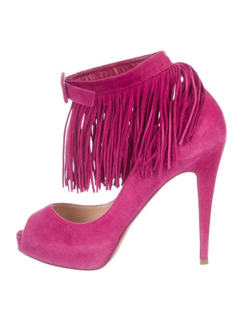 5aa270f74954 Christian Louboutin Short Tina Fringe Pumps - Shoes - CHT109523 ...
