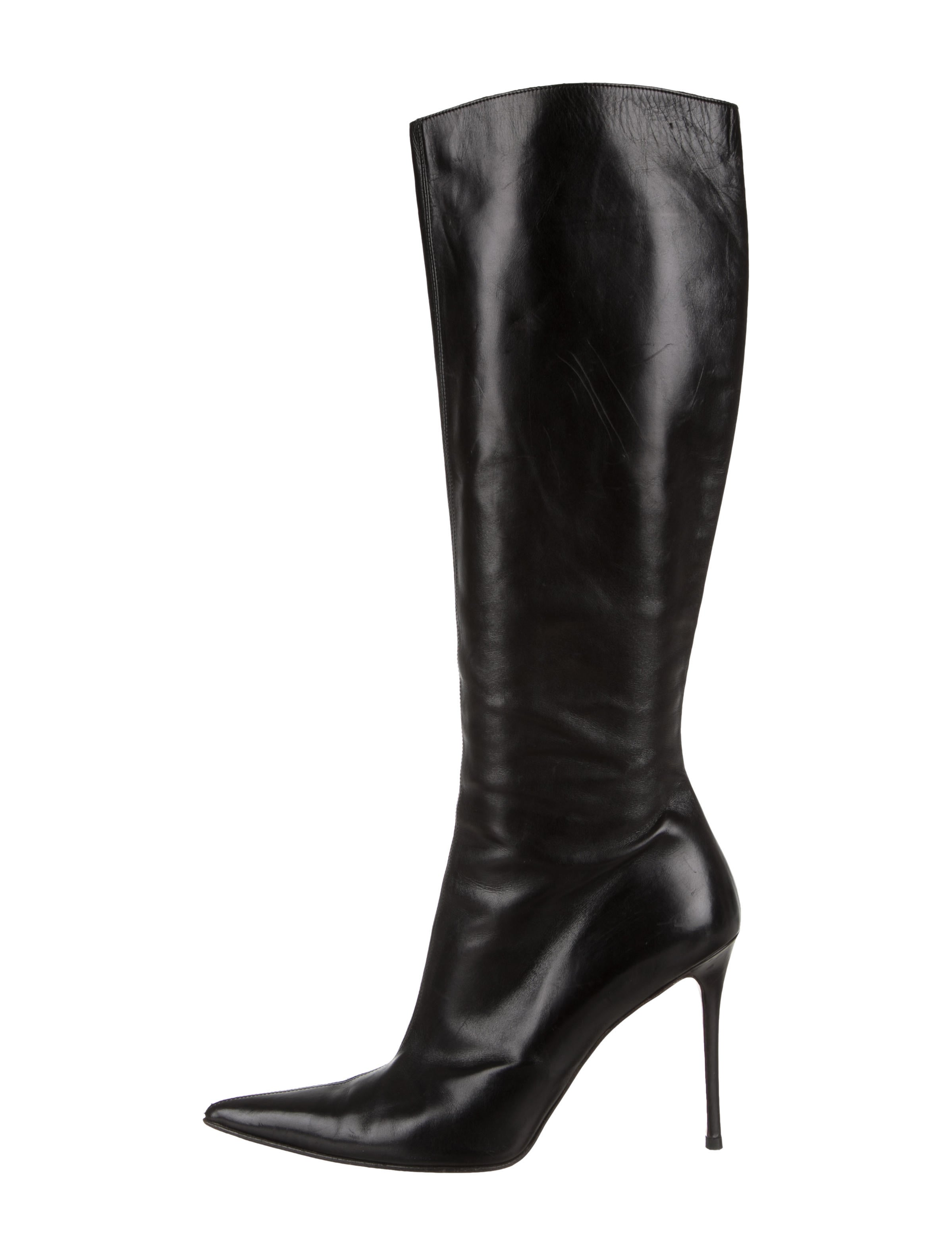 dcc5f11ad61 Christian Louboutin Leather Pointed-Toe Boots - Shoes - CHT109618 ...