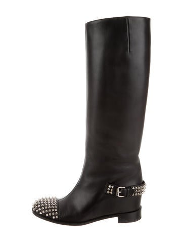 34fc0c9a26c Christian Louboutin Leather Knee-High Boots