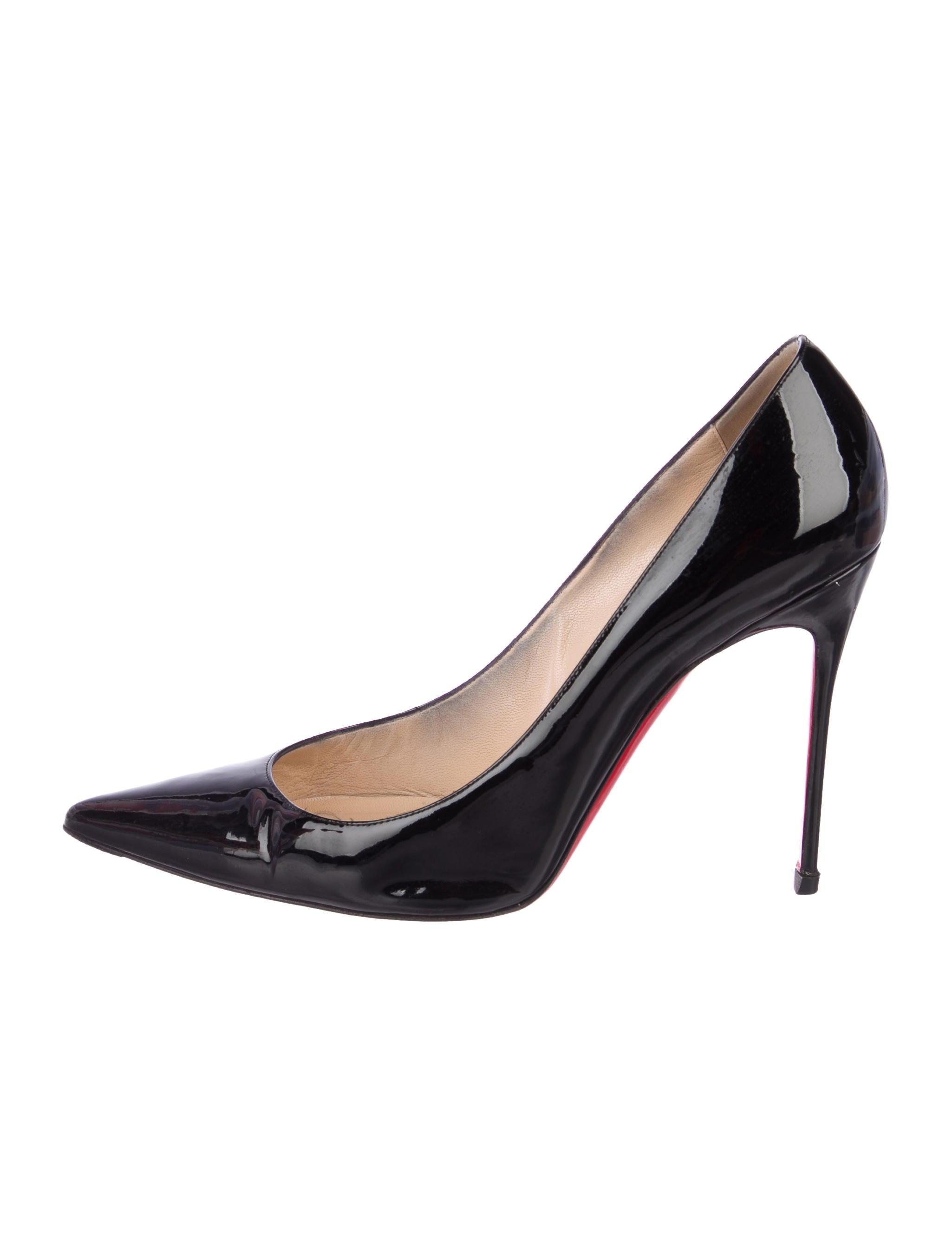 50bdbeb16883 Christian Louboutin Decollete 554 100 Patent Leather Pumps - Shoes ...