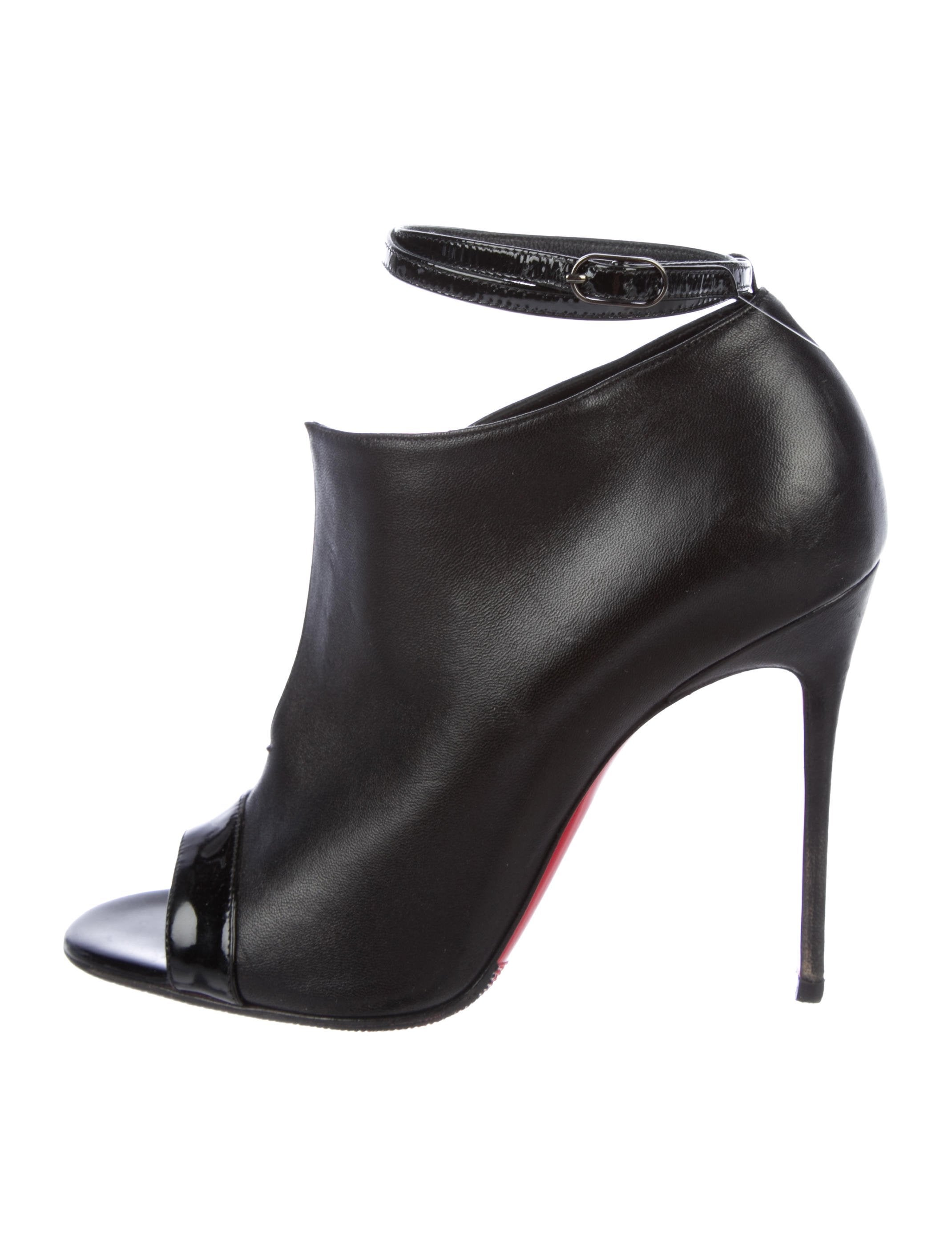 bedee97869b Christian Louboutin Diptic Peep-Toe 100 Booties - Shoes - CHT115362 ...