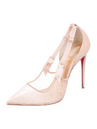 new styles 2d1e3 834af Christian Louboutin Hot Jeanbi Lace Pumps - Shoes ...