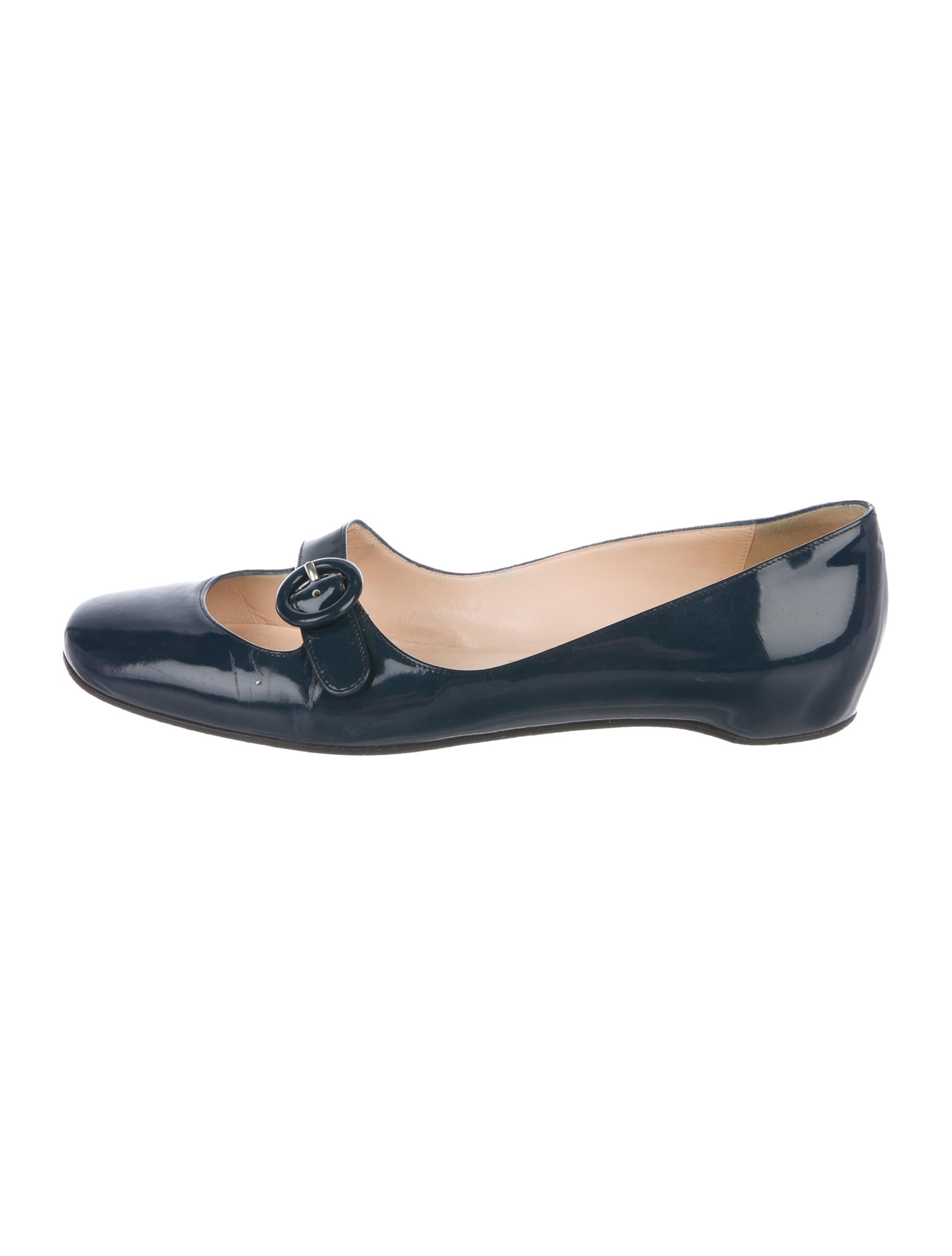 86b91260c094 Christian Louboutin Patent Leather Mary-Jane Flats - Shoes ...