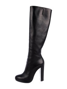 69e43a931ad Christian Louboutin Leather Knee-High Boots