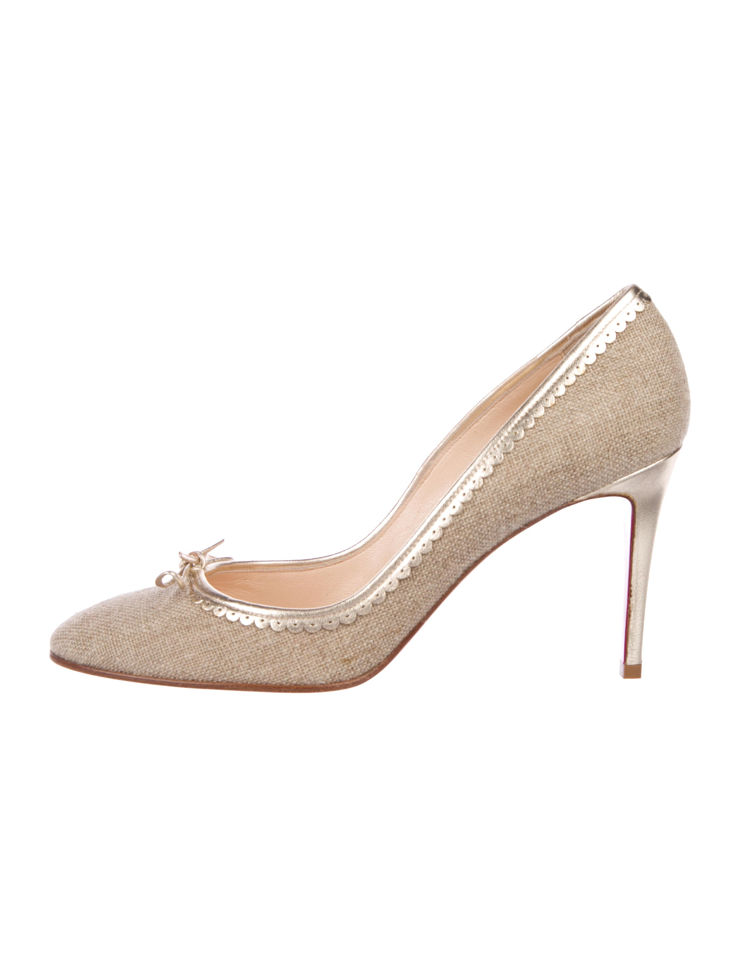 c360fdc5bfd6 Christian Louboutin Raffia Round-Toe Pumps - Shoes - CHT121958