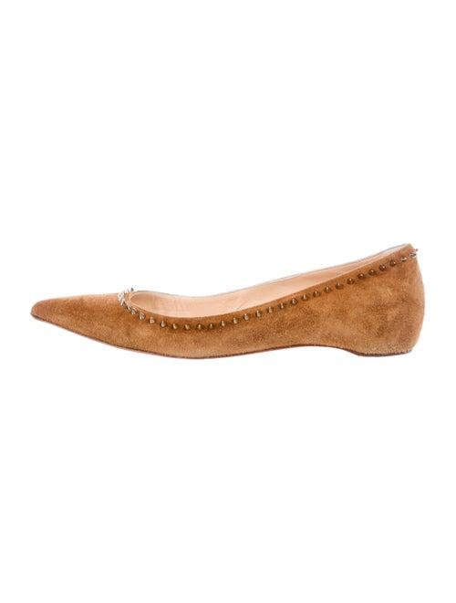 3548ea55b529 Christian Louboutin Anjalina Suede Flats - Shoes - CHT123824