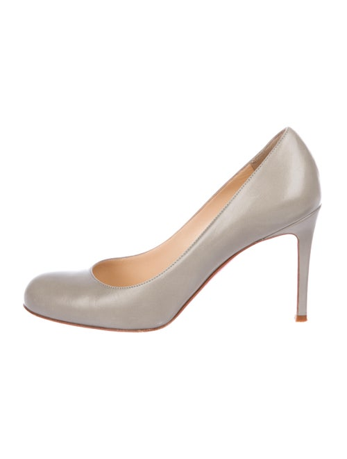 3260bd29ca4 Christian Louboutin Leather Round-Toe Pumps - Shoes - CHT123999 ...