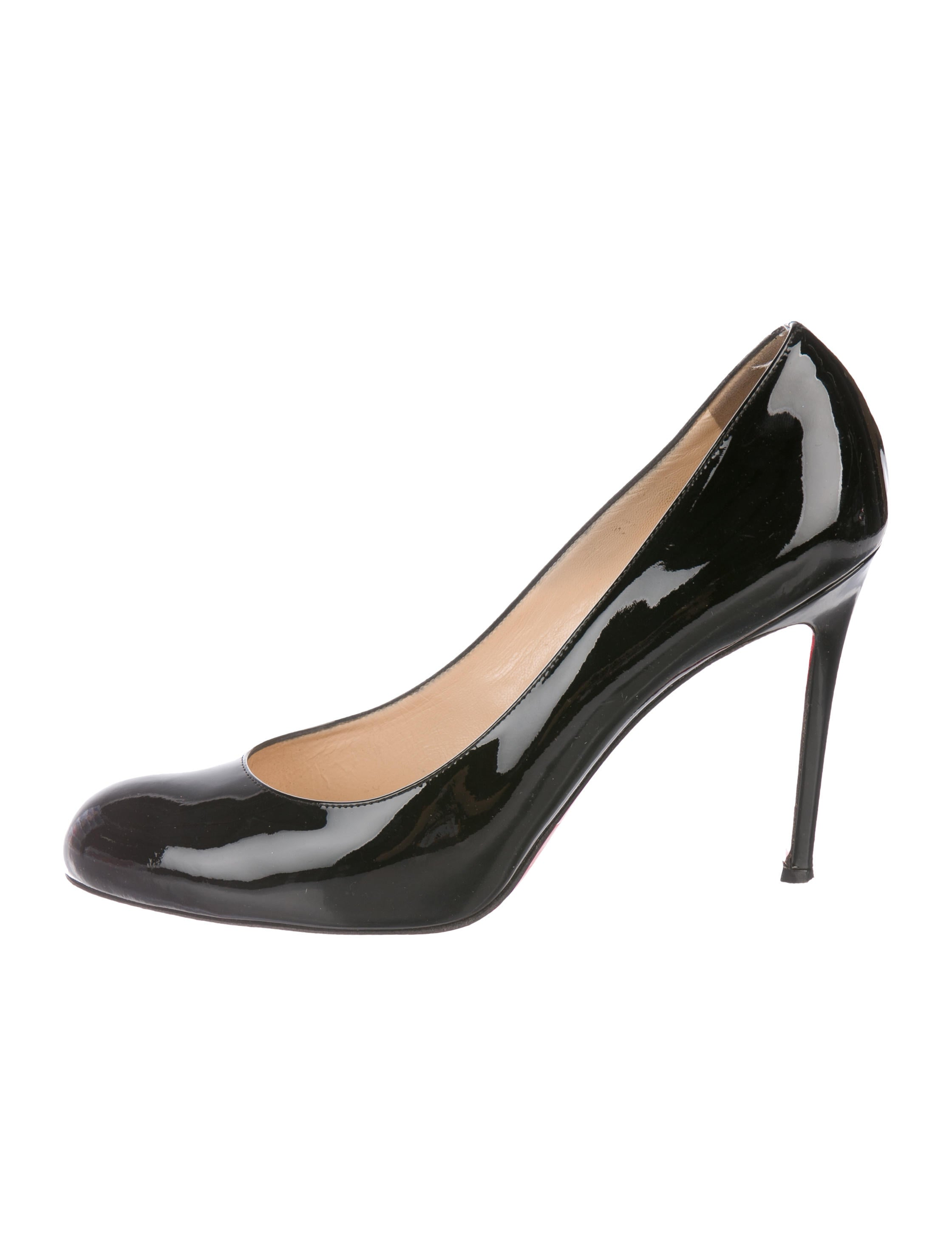 33d4b92754bc Christian Louboutin Patent Leather Round-Toe Pumps - Shoes ...