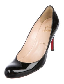 1c816b0b272 Christian Louboutin. Patent Leather Round-Toe Pumps