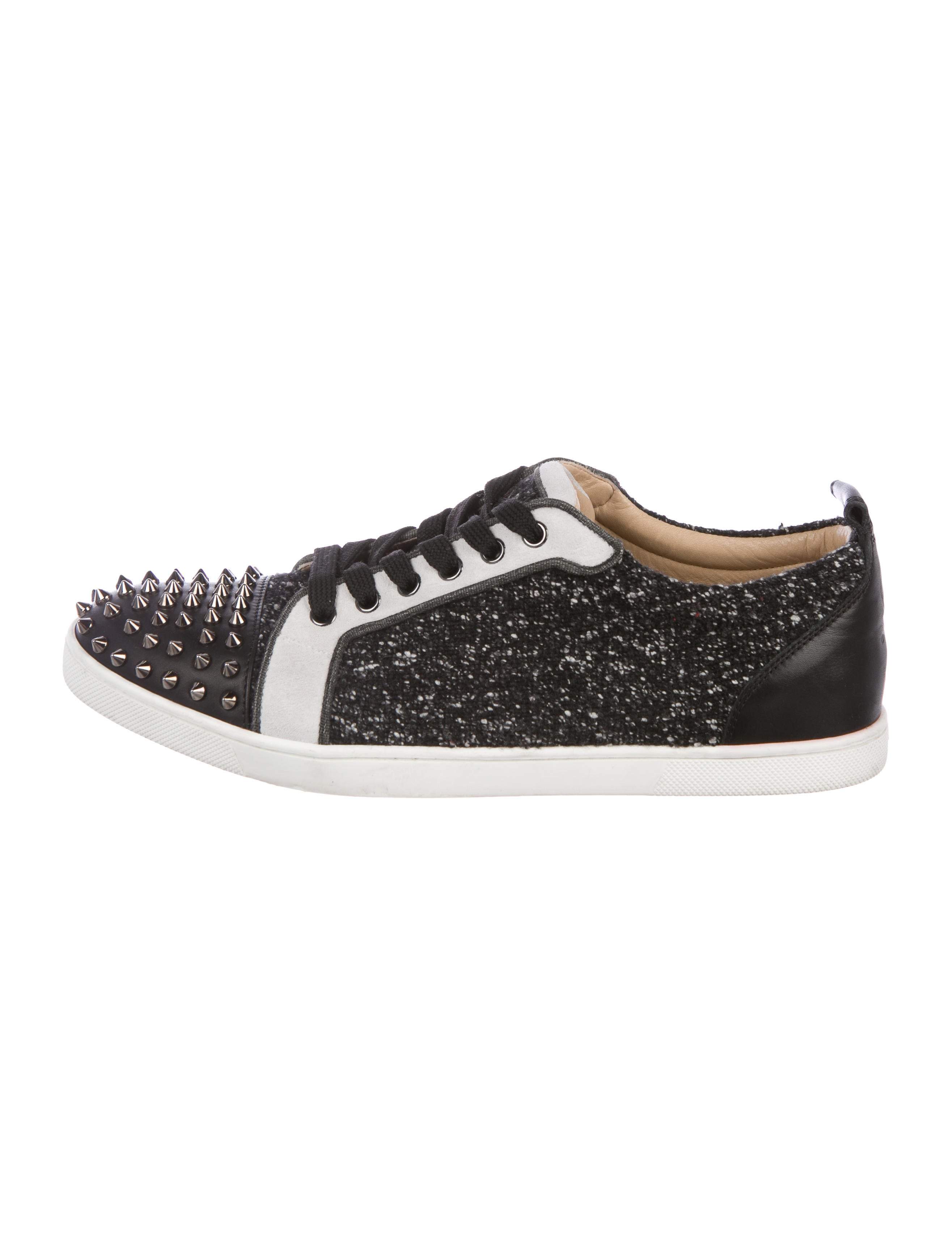 b35945fb561 Christian Louboutin Louis Spikes Junior Tweed Sneakers - Shoes ...